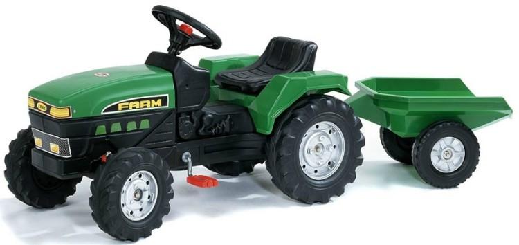 Трактор Falk (Фолк) педальный с прицепом зеленый 130 см