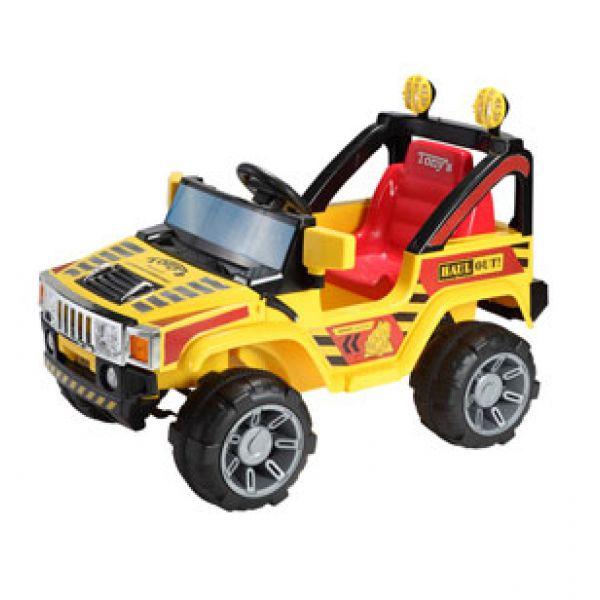 Детский электромобиль Bugati (Бугати) джип, желто-красный с пультом радиоуправления