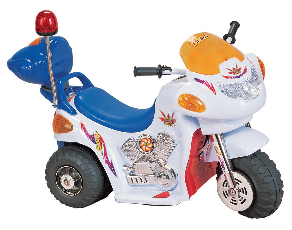 Детский электромотоцикл NeoTrike Police (Неотрайк Полис) белый