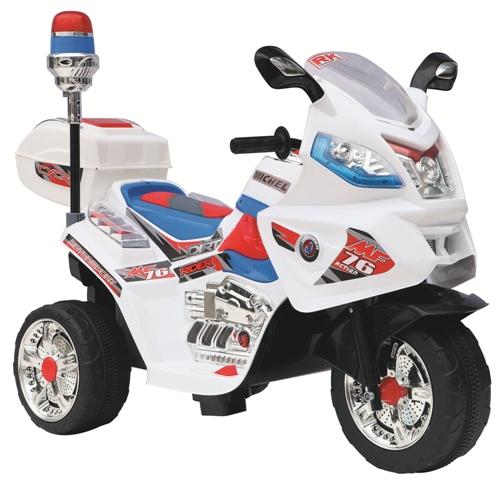 Детский электромотоцикл NeoTrike Police Big  (Неотрайк Полис Биг) белый