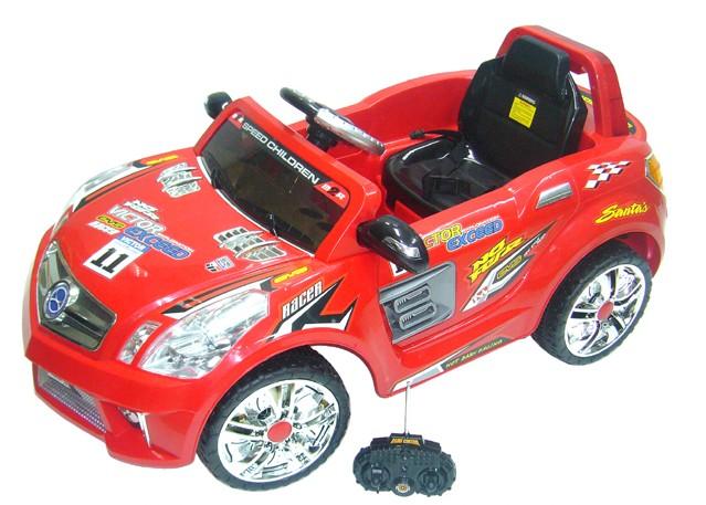 Детский электромобиль Bugati (Бугати) с радиоуправлением, красный
