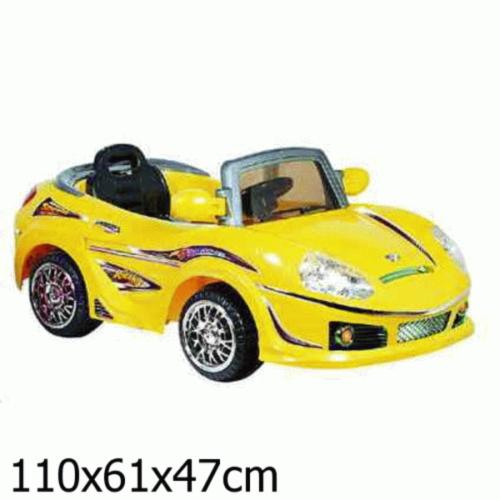 Электромобиль Bugati (Бугати) желтый