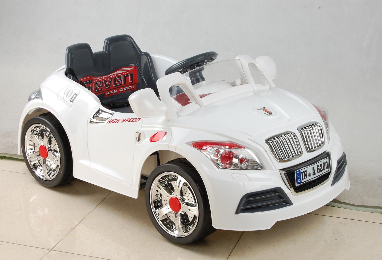 Детский электромобиль NeoTrike Cabrio BMW (Неотрайк Кабрио БМВ) белый с пультом радиоуправления