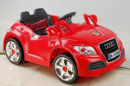 Детский электромобиль NeoTrike Cabrio Audi (Неотрайк Кабрио Ауди) красный с пультом радиоуправления
