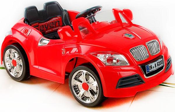Детский электромобиль NeoTrike Cabrio BMW (Неотрайк Кабрио БМВ) красный с пультом радиоуправления