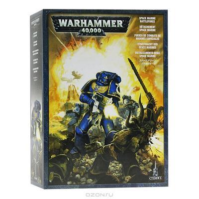 "Набор миниатюр ""Warhammer 40.000″. Огневая ячейка Космодесанта"