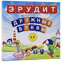 """Настольная обучающая игра """"Эрудит. Дружные буквы"""""""