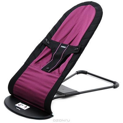 """Кресло-шезлонг BabyBjorn """"Balance Organic"""", цвет: черный, пурпурный"""