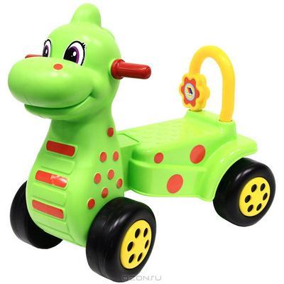 """Каталка-динозавр """"Дино"""", цвет: зеленый"""