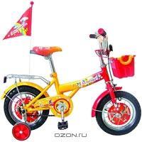 """Двухколесный велосипед Navigator (Навигатор) """"Ну, погоди!"""", цвет: красно-желтый. ВМЗ12001"""