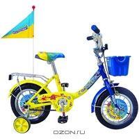 """Двухколесный велосипед Navigator (Навигатор) """"Ну, погоди!"""", цвет: желтый, синий"""