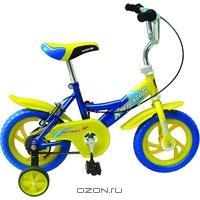 """Двухколесный велосипед Navigator (Навигатор) """"Patriot"""", цвет: синий, желтый"""