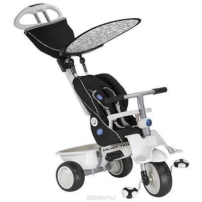 """Трехколесный велосипед """"Smart-Trike Recliner Stroller"""", цвет: черный"""