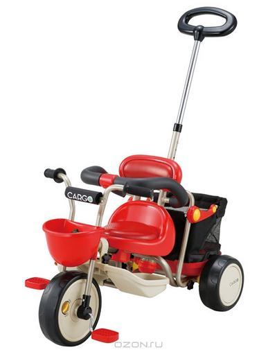 """Трехколесный велосипед Ides """"Cargo"""", цвет: красный. 30273"""