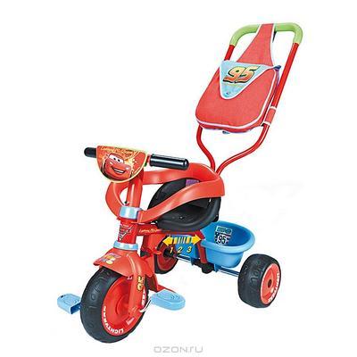 """Трехколесный велосипед Smoby """"Be Fun Confort: Тачки"""", с сумкой, цвет: красный. 444166"""