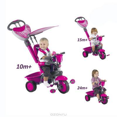 """Трехколесный велосипед """"Smart-Trike Zoo"""", цвет: розовый. 1570200"""