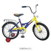 """Двухколесный велосипед Navigator (Навигатор) """"Basic"""", цвет: желтый, синий"""
