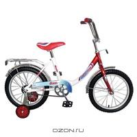 """Двухколесный велосипед Navigator (Навигатор) """"Basic"""", цвет: белый, красный"""