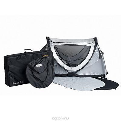 """Палатка-манеж детская Deryan """"Летучая забава"""", большая, цвет: серебристый"""