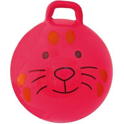 "Мяч-попрыгун ""Заяц"", цвет: красный, 56 см"