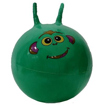 """Мяч-попрыгун """"Веселая обезьянка"""", цвет: зеленый, 50 см"""