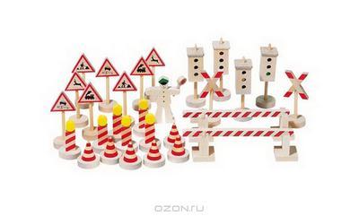 """Игровой набор Goki """"Дорожные знаки"""", 29 элементов"""