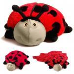Мягкая игрушка-подушка-плед божья коровка Лилли Zoobies (Зубис)