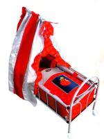 Кроватка на колесиках для куклы со светящимся логотипом Gulliver (Гулливер)