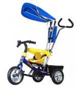 Детский трехколесный велосипед NeoTrike Rider (Неотрайк Райдер) синий с ручкой