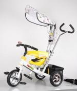Детский трехколесный велосипед NeoTrike Rider (Неотрайк Райдер) белый с ручкой