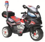 Детский электромотоцикл NeoTrike Police Big (Неотрайк Полис Биг) черный