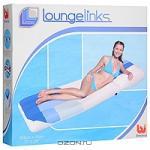 """Матрас надувной """"Lounge links"""", 183 см х 71 см, цвет: белый, голубой"""